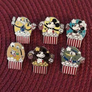 Disney Character Popcorn pins